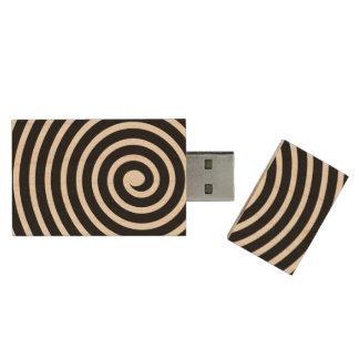 Spiral - Black Wood USB 2.0 Flash Drive