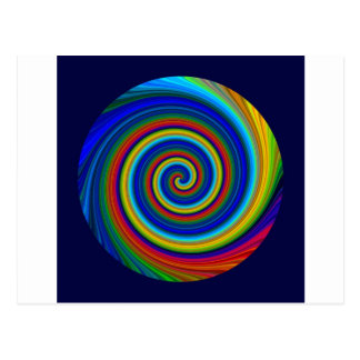Spiral Blur Postcard