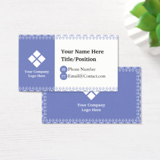 Spiral Bordered Business Card