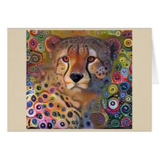 Spiral Cheetah Card