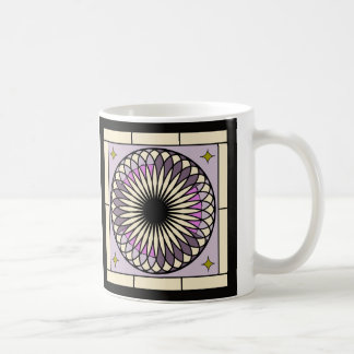 Spiral Deco Purple Design Coffee Mug