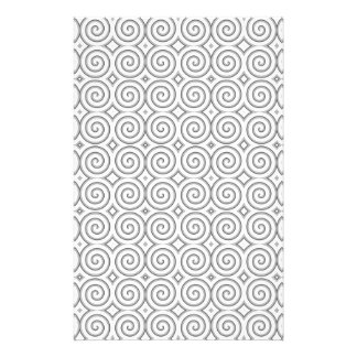 Spiral design, in black and white. stationery