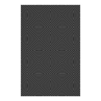 Spiral design in dark gray. custom stationery
