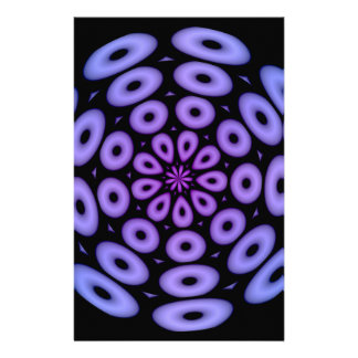 Spiral Design Purple Circles Customized Stationery