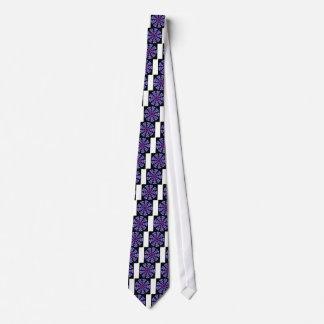 Spiral Design Purple Circles Tie
