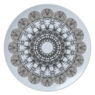 Spiral_Designs_Pale_Blue & Gray_ (c) Dinner Plate