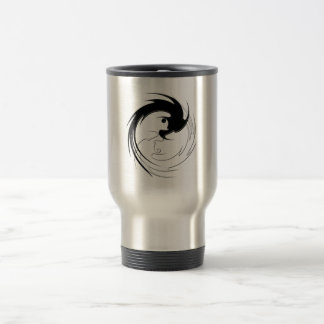 Spiral Dragon Yin-Yang Travel Mug