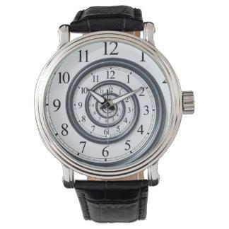 Spiral Droste Clock Watch