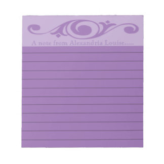 Spiral Floret | Choose Color | Lined | Add Text Notepad