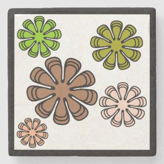 Spiral Flower Camouflage Art Stone Coaster