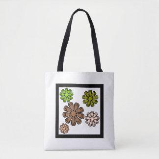 Spiral Flower Camouflage Art Tote Bag