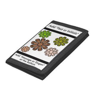 Spiral Flower Camouflage Art Tri-fold Wallet