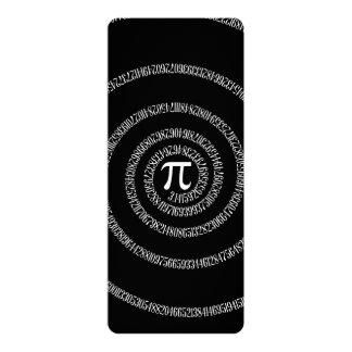 Spiral for Pi on Solid Black 10 Cm X 24 Cm Invitation Card