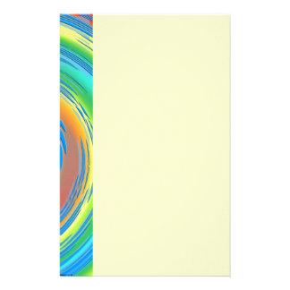 Spiral Fractal Abstract Stationery Design