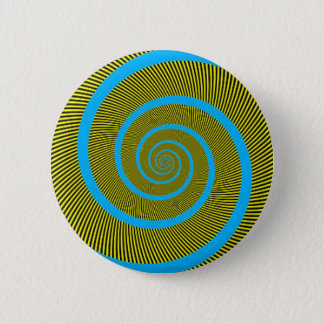 Spiral fractal art 6 cm round badge