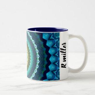 Spiral fun Two-Tone coffee mug