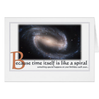 Spiral Galaxy Birthday Card - Inspirational