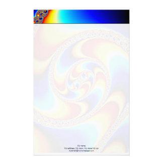 Spiral Galaxy - Fractal Art Stationery Design