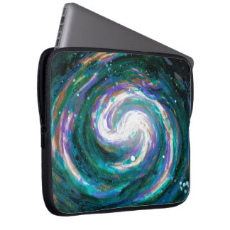 Spiral Galaxy in Space Laptop Sleeve