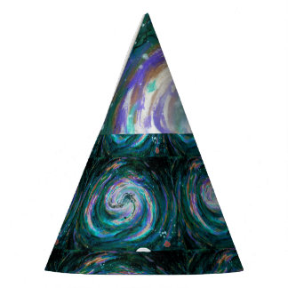 Spiral Galaxy in Space Party Hat