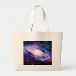 Spiral galaxy large tote bag