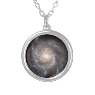 Spiral Galaxy Silver Plated Necklace