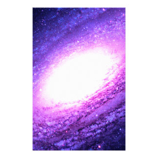 Spiral galaxy stationery paper