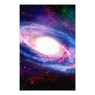 Spiral galaxy stationery paper