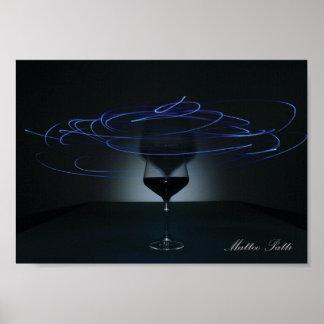 Spiral Glass Poster