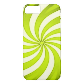 Spiral Golden Candy Cane iPhone 7 Case