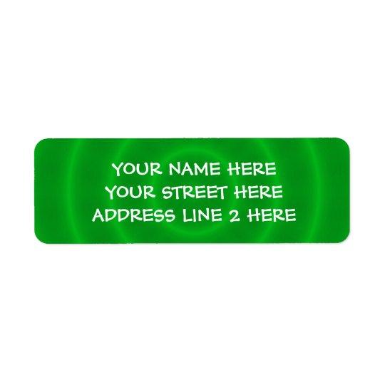 Spiral Green Address Labels
