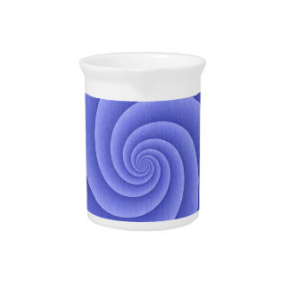 Spiral in Blue Brushed Metal Texture Print Pitchers