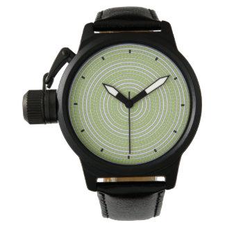 Spiral in Green by Julie Everhart Wrist Watches