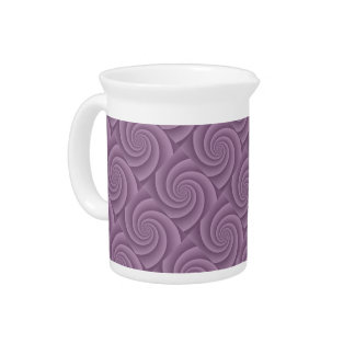 Spiral in Mauve Brushed Metal Texture Print Drink Pitcher