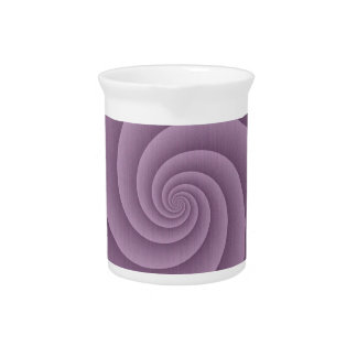 Spiral in Mauve Brushed Metal Texture Print Drink Pitchers