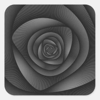 Spiral Labyrinth in Monochrome Square Sticker