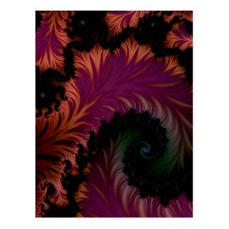 spiral leaf postcard