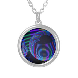 Spiral Lights In The Crystal Silver Plated Necklace