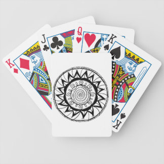 Spiral Mandala Flower Bicycle Playing Cards