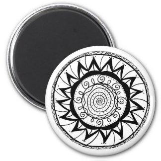 Spiral Mandala Flower Magnet