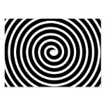 Spiral Motif - Black and White