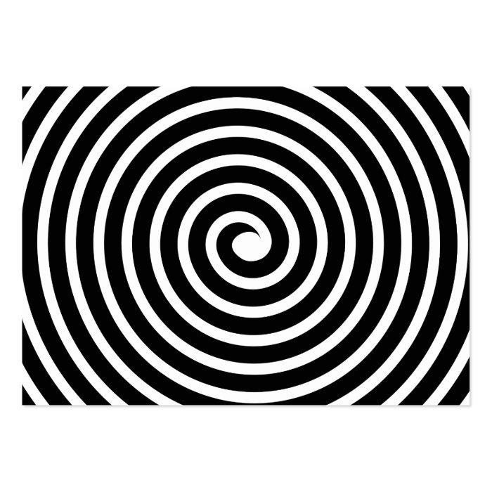 Spiral Motif - Black and White Pack Of Chubby Business Cards