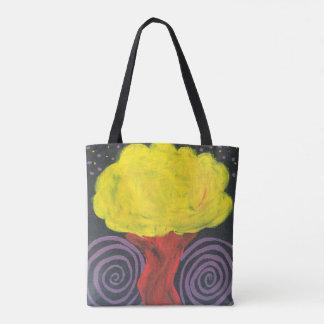 Spiral Night Tree Tote Bag