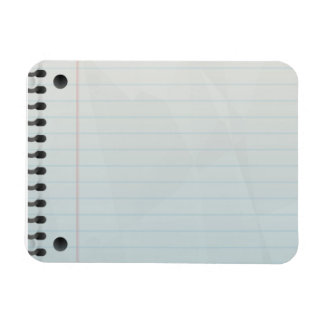 Spiral Notebook Lined Paper Rectangle Magnet