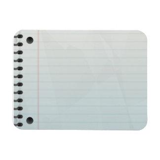 Spiral Notebook Lined Paper Rectangular Photo Magnet