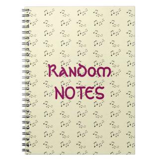 Spiral Notebook - Random Musical Notes