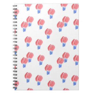Spiral notebook with air balloons