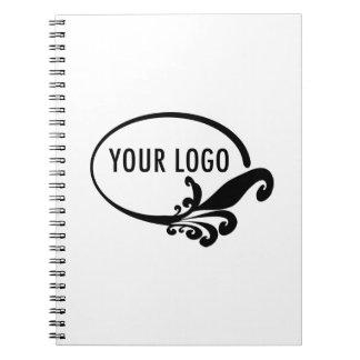 Spiral Notebook with Custom Business Logo Branding