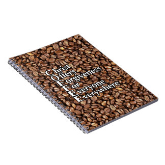 Spiral Notepad COFFEE Christ Offers Forgiveness Spiral Note Book