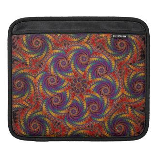 Spiral Octopus Psychedelic Rainbow Fractal Art iPad Sleeve